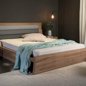 σετ ξύλινη κρεβατοκάμαρα σάρα ελιά κρεβάτι με κεφαλάρι και κομοδίνο