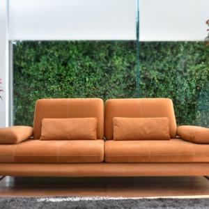 Πορτοκαλί καναπές τύπου δέρματος Έπιπλο Μπόζογλου