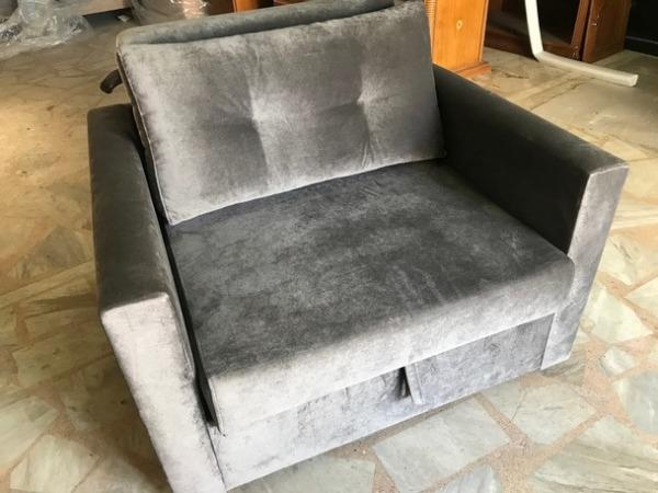 βαμβακερή πολυθρόνα κρεβάτι κλειστή