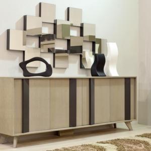 ξύλινος μπουφές ceazar με διάφορα χρώματα και ντουλάπια