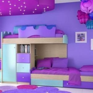 παιδικό δωμάτιο collection blue dream διώροφοκρεβάτι ντουλάπα συρτάρια