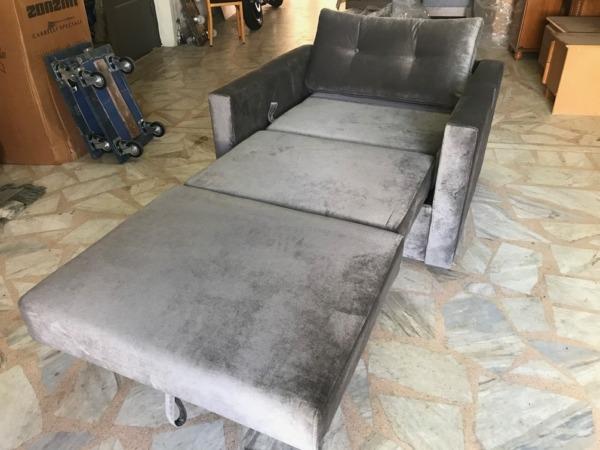 βαμβακερή πολυθρόνα κρεβάτι